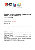 Models of Sub-Components and Validation for the IEA SHC Task 44 / HPP Annex 38
